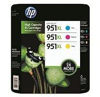 Genuine HP CR318BN 951XL Combo 3-Color- 1 Cyan XL/ 1 Magenta XL/1 Yellow XL
