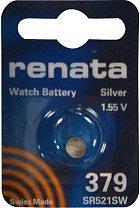 Pile bouton 379 Oxyde d'argent 1.55 V 16 mAh Renata 379.CU MF