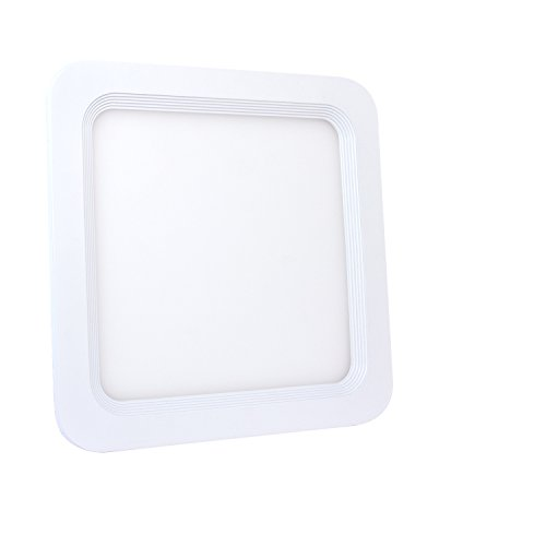 eSmart Germany LUMINEO LED Einbauleuchte   20W (100W)   Warmweiß   inklusive LED-Trafo   216mm x 216mm   Einbauöffnung: 189mm x 189mm   Einbautiefe: 27mm