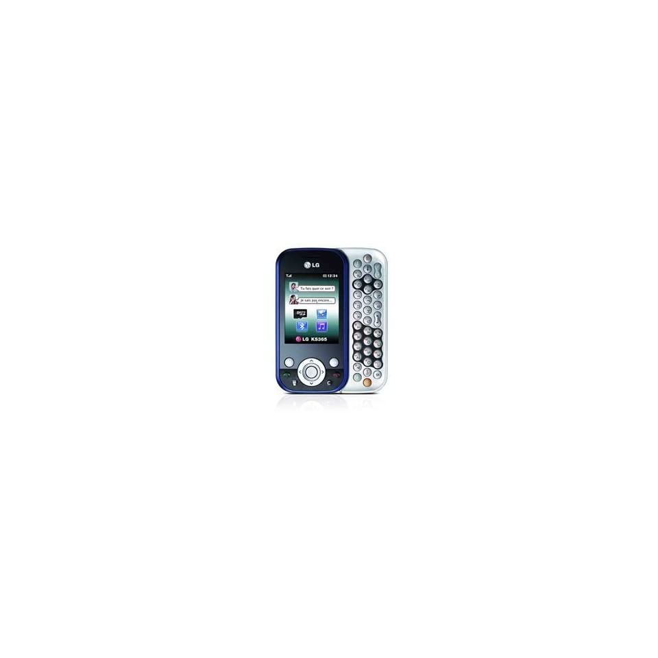 LG KS365 Unlocked GSM Cell Phone with 2MP Camera, Bluetooth, QWERTY Keyboard, Speakerphone  International Version with No US Warranty (Silver/Blue) Cell Phones & Accessories