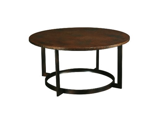 Round Copper Top Coffee Table
