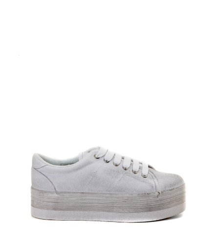 JEFFREY CAMPBELL EPLAY ZOMG CANVAS (40, BIANCO)
