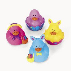 12 Vinyl Mini Easter Rubber Duckies