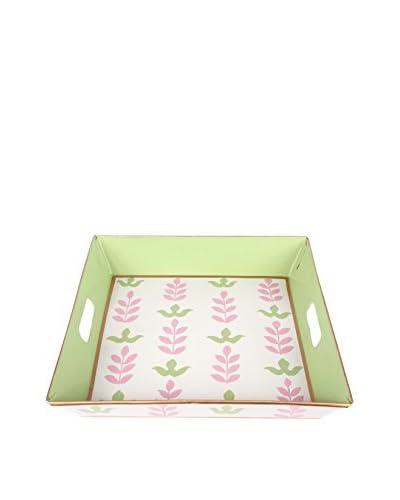 Jayes Foliage Square Tray, Pink