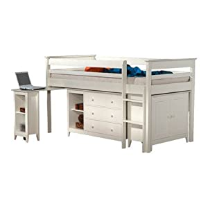 Lansell Storage Single Mid Sleeper Bunk Bed Finish: White