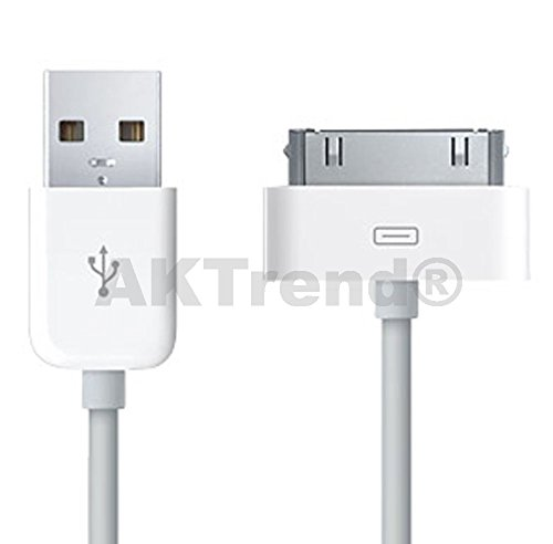 ORIGINAL AKTrend® USB DATENKABEL FÜR iPhone 2G / 3G / 3GS / 4 / 4S iPad 1/2/3 (the new iPad HD/iPad 3) iPod Touch 1. 2. 3. 4. Gen. iPod Classic 3G 4G 5 5G 6G iPod Shuffle: 2. 3. Gen. iPod Colour iPod Mini iPod Photo iPod Nano 1G / 2G / 3G / 4G / 5G / 6G / 7G / 8G iPod 3G / 4G / 5G (iPod Video) AKIP4-001