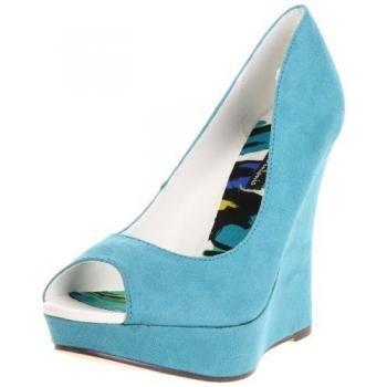 Michael Antonio Women'S Adrian Wedge Sandal,Turquoise,6 M Us front-751242