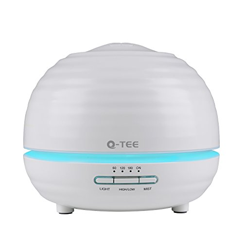 Q-YEE 300ml Ultrasonic redolence diffuser Cool Mist Air Humidifier  with 7 Color LED Lights Changing and Waterless Auto Shut-off Function Timing role for Home Office Bedroom Room