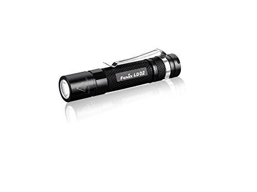 Fenix Flashlights FX-LD02 Series Flashlight with Battery 100 Lumens, Black