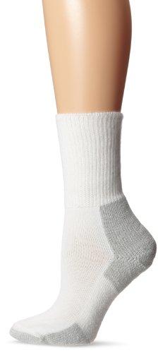 Thorlos  Womens Running Thick Padded Crew Socks White/Platinum, M (Women's: 6.5-10, Men's: 5.5-8.5) (Extra Thick Womens Socks compare prices)