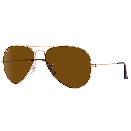 RB 3025 001/33 Gold W/ B-15 Brown Lens by Ray Ban for Unisex
