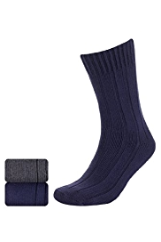 2 Pairs of North Coast Cotton Rich Ribbed Socks