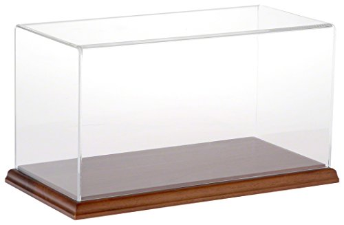 Plymor Brand Clear Acrylic Display Case with Hardwood Base, 12