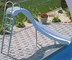 White correct S.R. cruz Rogue/Grand Rapids swimming pool Slide