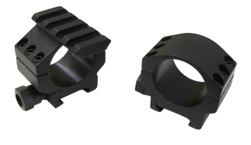Millett Tactical Aluminum Ring (30mm - Low, Matte) with Accessory Rail