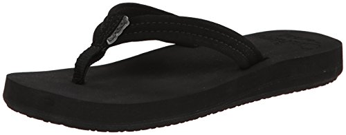 Reef Women's Cushion Breeze Flip Flop,Black Black,10 M US