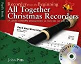 Various John Pitts Recorder From The Beginning All Together Christmas Bk/Cd