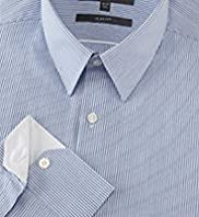 Limited Collection Cotton Rich Slim Fit Rope Striped Shirt