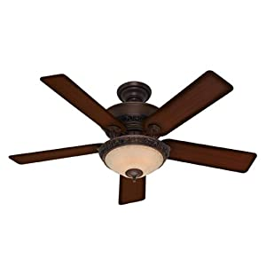 "Hunter Fans 20552 52"" Italian Countryside Traditional Indoor Cocoa Ceiling Fan w/ Light"