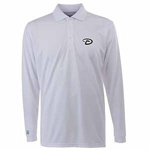 Arizona Diamondbacks Long Sleeve Polo Shirt (White) by Antigua