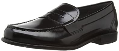 Rockport Classic Loafer Lite Penny, Men's Loafers, Black Waxed Calf), 7 UK (40 1/2 EU)