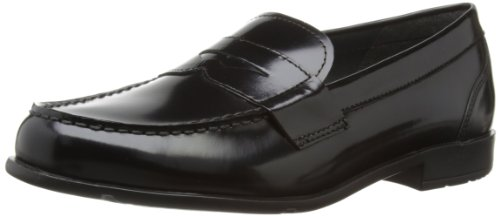 Rockport Classic Loafer Penny, Mocassini uomo, Black Brush Off, 42