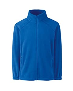 Kids Fruit of The Loom Full Zip Outdoor Fleece-Royal-12-13 Years-FREE SHIPPING