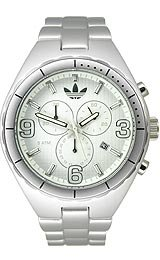 Adidas Aluminum Cambridge Chronograph White Dial Unisex watch #ADH2573