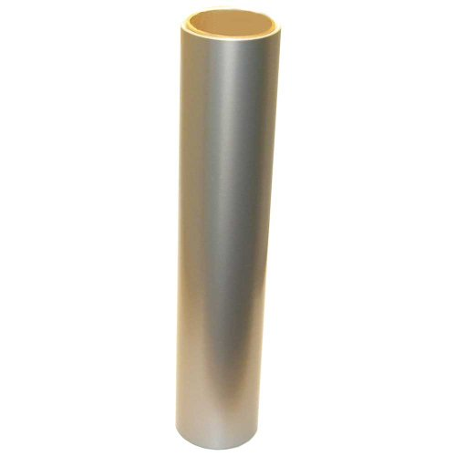 Vinyl Oasis Craft & Hobby Vinyl - Gloss Silver Metallic W/ Permanent Adhesive - 12 In. X 10 Ft. Roll front-625061