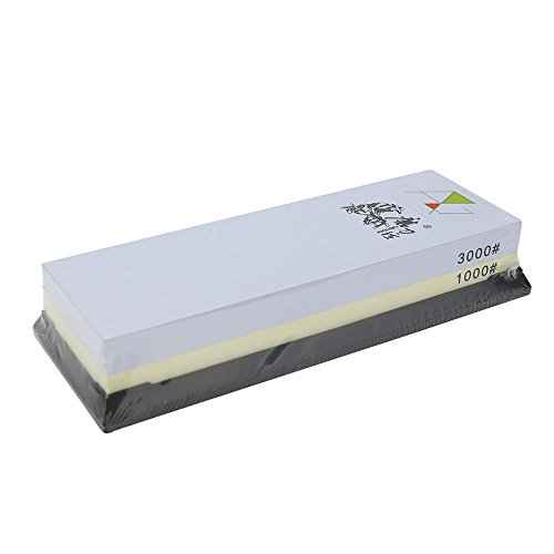 TAIDEA 1000/3000 Grit Combination Corundum Whetstone Knife Sharpening Stone / Double Two-Sided