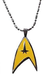 "Star Trek Original Series COMMAND Silvertone/Enamel PENDANT w/ 25"" Chain"
