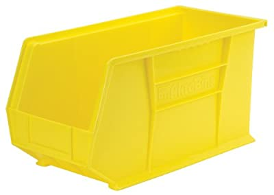 Akro-Mils 30265 Plastic Storage Stacking Hanging Akro Bin, 18-Inch by 8-Inch by 9-Inch, Yellow, Case of 6