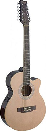 Stagg Sa40Mjcfi/12-N Electro-Acoustic Mini Jumbo 12 String Guitar