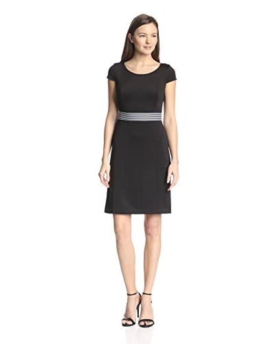 Marc New York by Andrew Marc Women's Scuba Fit-and-Flare Dress