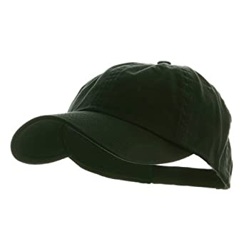 Low Profile Dyed Cotton Twill Cap - Black W39S55D