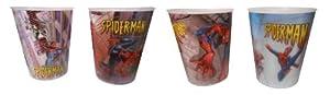 16 Spiderman Plastic 3D Motion Cups - Party Favors