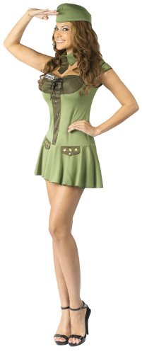Major Trouble Sexy Army Uniform Adult Costume / Fancy Dress