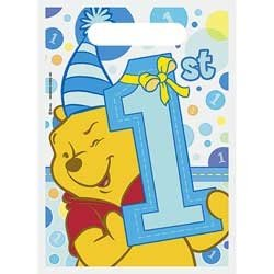 Pooh's 1st Birthday BoyTreat Sacks 8ct - 1