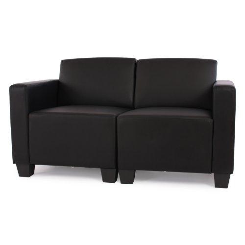 modular 2 sitzer sofa couch lyon kunstleder schwarz hempels sofa. Black Bedroom Furniture Sets. Home Design Ideas