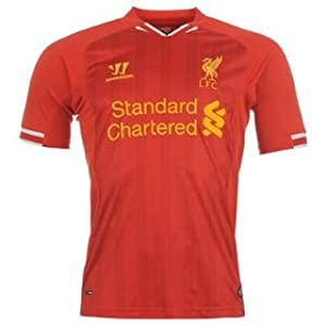 Warrior Liverpool Home Shirt 2013 2014 Junior Red 13 Yrs