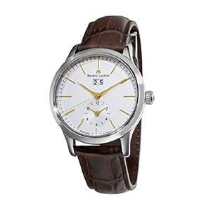 Maurice Lacroix Men's LC6088-SS001130 Les Classiques Quartz Silver GMT Dial Watch