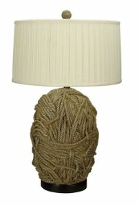 Cal Lighting BO 2014 Terra Cotta Resin Table Lamp Tan