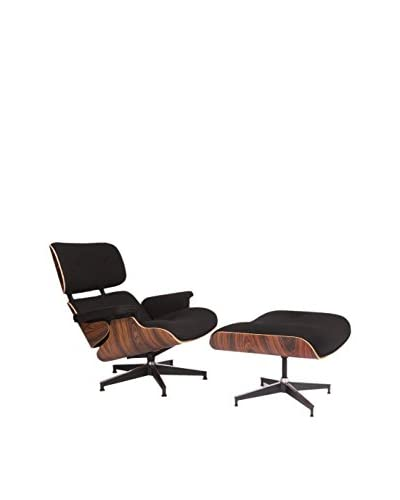 LeisureMod Modern Plywood Zane Lounge Chair & Ottoman