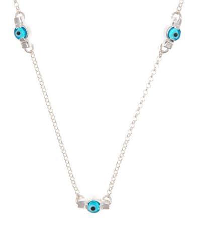 Silver Luxe Collar Ojo turco