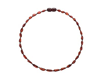 Amber Teething Necklace for Babies (Unisex) (Raw Cherry) - Anti Flammatory, Drooling & Teething Pain Reduce Properties - Certificated Natural Baltic Jewelry, Highest Quality, Less Teething Tablets from Clever Actions