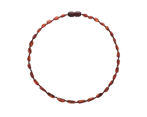 Amber-Teething-Necklace-for-Babies-Unisex-Raw-Cherry-Anti-Flammatory-Drooling-Teething-Pain-Reduce-Properties-Certificated-Natural-Baltic-Jewelry-Highest-Quality-Less-Teething-Tablets