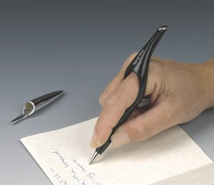 Ring-Pen Writing Instrument - Provides Writing Relief to People with Arthritis, Carpal Tunnal Syndrom and Writer's Cramp or Anyone That Writes a Lot
