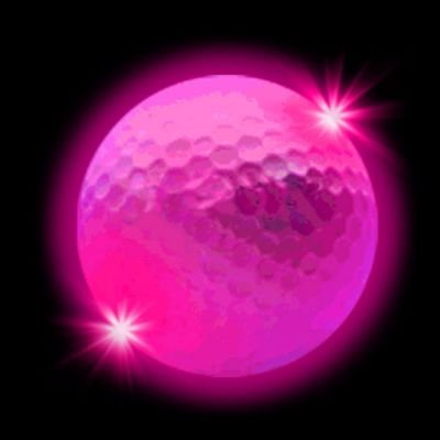 Windy City Novelties Novelty LED Golf Ball, Pink