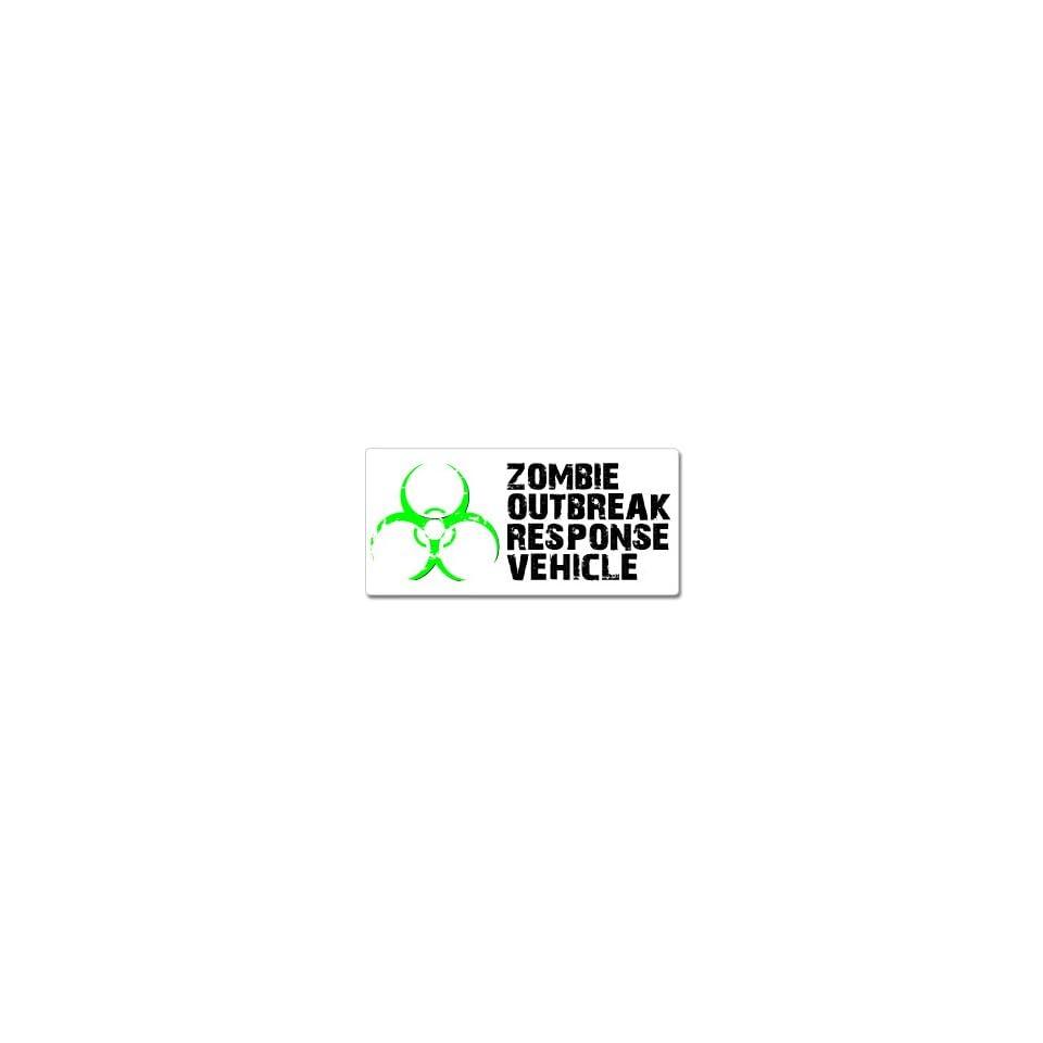Zombie Outbreak Response Vehicle Green   Window Bumper Sticker