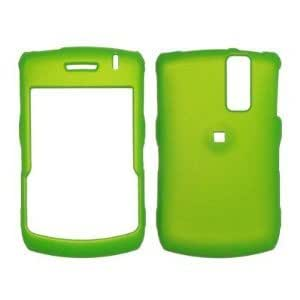 Full Coverage Rubberized Neon Green Case for Blackberry Curve 8300/8310/8320/8330